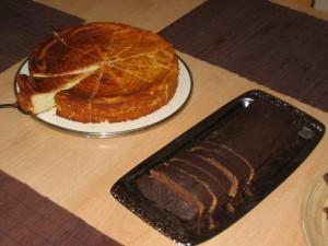 käsekuchen und lebkuchenkuchen